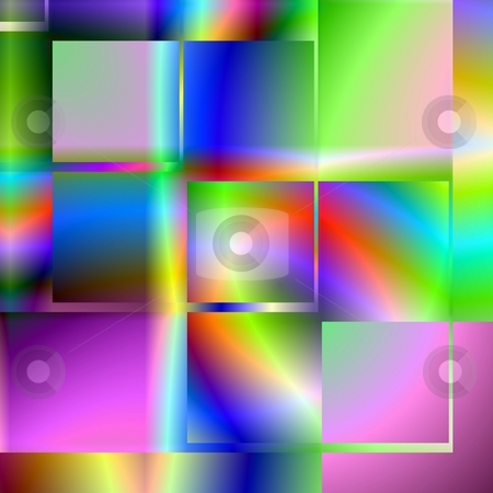 Square Abstract stock photo, Computer generated fractal image with a multi-colored abstract design. by Colin Forrest