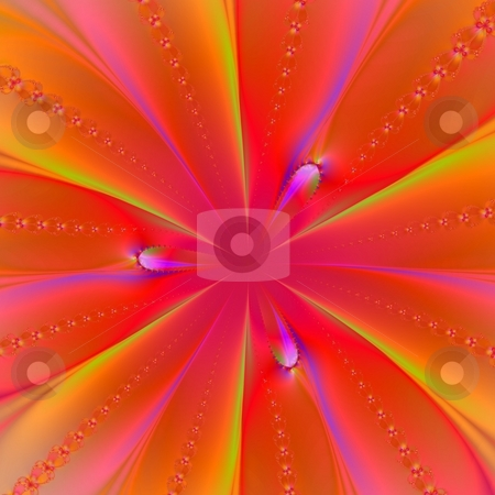 Orange Triangular Abstract stock photo, Computer generated abstract image with a triangular design in orange hues. by Colin Forrest