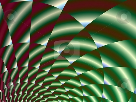 Metallic Green Spiral stock photo, Computer generated fractal image with a metallic green spiral design. by Colin Forrest