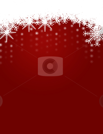 Winter and Christmas Background with Snowflakes stock photo, Winter and Christmas Background and Snowflakes by Mehmet Dilsiz