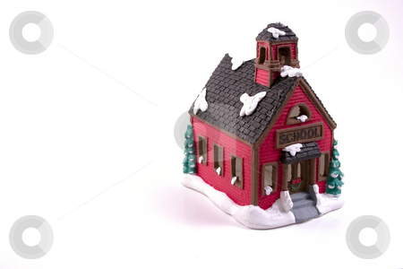 Christmas Decoration House - School stock photo, Christmas Decoration House - School by Mehmet Dilsiz