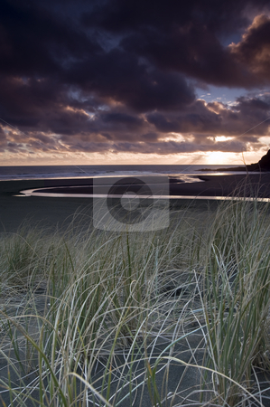 KareKare sands stock photo, Black sand?? by Robin Ducker