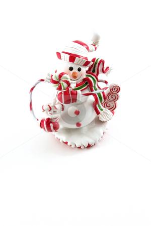 Christmas Decoration House - Snowman stock photo, Snowman Christmas Decoration House by Mehmet Dilsiz