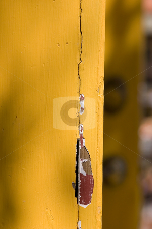 Background - Yellow Orange Door with Chipped Off Paint stock photo, Wooden Yellow Orange Door with Paints Coming Out by Mehmet Dilsiz