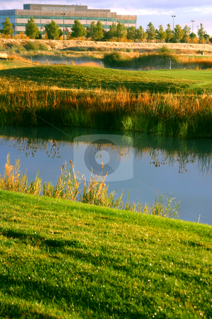 The Creek stock photo, The Creek Early in the Morning by Mehmet Dilsiz