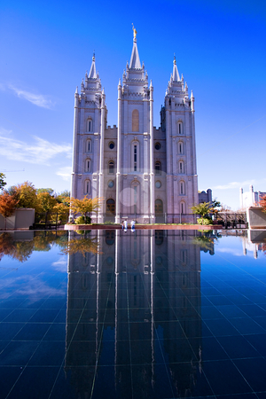 Salt Lake City, UT: October 30 Mormon Temple in Salt Lake City,  stock photo, Salt Lake City, UT: October 30 Mormon Temple in Salt Lake City, Utah by Mehmet Dilsiz