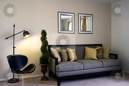 Family Room stock photo, Close up on a Classic Family Room by Mehmet Dilsiz