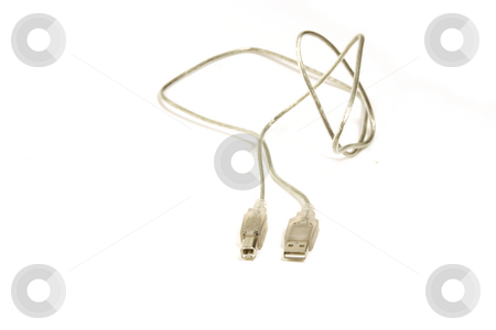 USB Universal Serial Bus Cable stock photo, Isolated USB Universal Serial Bus Cable by Mehmet Dilsiz