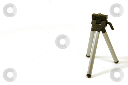 Mini Tripod  stock photo, Mini Tripod on a white background by Mehmet Dilsiz