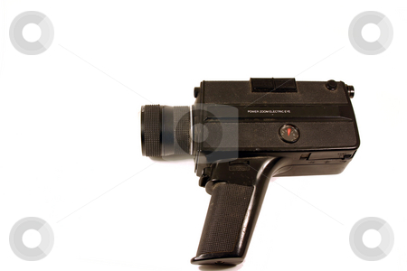 Vintage Camcorder stock photo, Old Vintage Handheld Camcorder by Mehmet Dilsiz