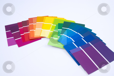 Isolated Paint Samples stock photo, All Colors - Paint Samples by Mehmet Dilsiz