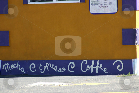 Up Close - Coffee Shop / Stand stock photo, Close up on Coffeeshop Stand Wall by Mehmet Dilsiz