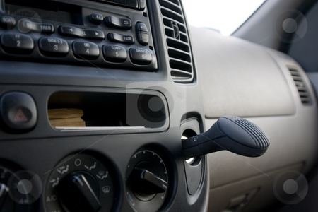 Dashboard, radio and the plug in ionizer stock photo, Close up on a dashboard with the radio and the plug in ionizer by Mehmet Dilsiz