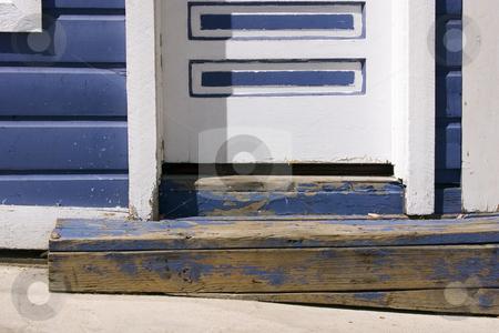 Close up on a Door Step of an Old Door stock photo, Close up on a Blue Door Step of an Old Door in Park City by Mehmet Dilsiz