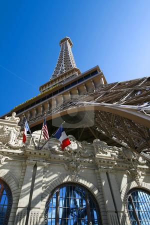 Replica of Eiffel Tower stock photo, Replica of Eiffel Tower in Las vegas by Mehmet Dilsiz