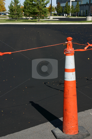 New Asphalt and the Cone stock photo, Close up on New Asphalt and the Cone by Mehmet Dilsiz