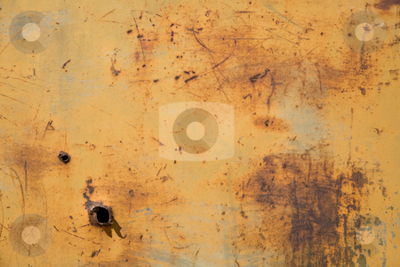 Grunge Background stock photo, Door of an old car wreck in the desert of Namibia, Africa by mdphot