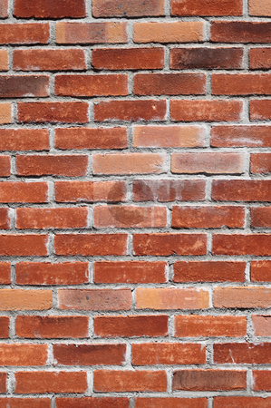 Colorful red brick wall. stock photo, Colorful red brick wall. by Stephen Rees