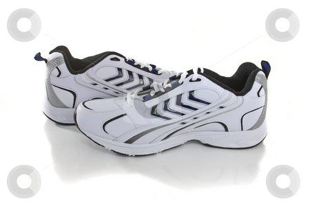 New Sneakers stock photo, Stock photo new Sneakers isolated by Jack Schiffer
