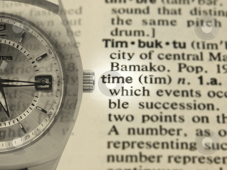 Time Concept stock photo, Time Concept with definition and imposed watch by John Teeter