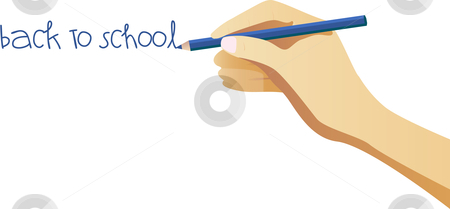 Back to school note stock vector clipart, Hand writing back to school note on wall by Augusto Cabral Graphiste Rennes