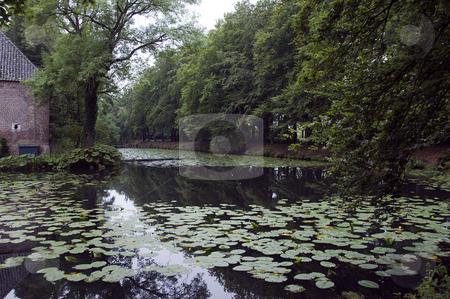 Castle arcen water garden stock photo, Castle arcen Holland with water and big gardens by Chris Willemsen