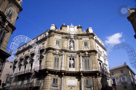 Quatro cante stock photo, Quatro cante in Palermo - center of the city by Daniel Kafer