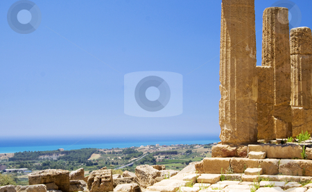 Greek ruins in Sicily stock photo, Valley of the temples are Greek style ruins at Agrigento in Sicily Italy by Daniel Kafer