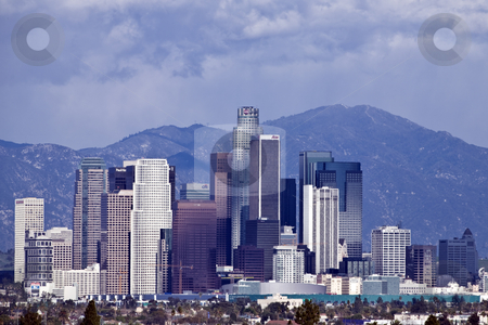 Los Angeles Skyline--Editorial stock photo, Downtown Los Angeles viewed from the southwest by Bart Everett
