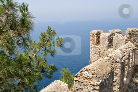 Sea view from fortress in Alanya stock photo, Sea view taken from fortress in Alanya, Turkey by Andrey Lukashenkov
