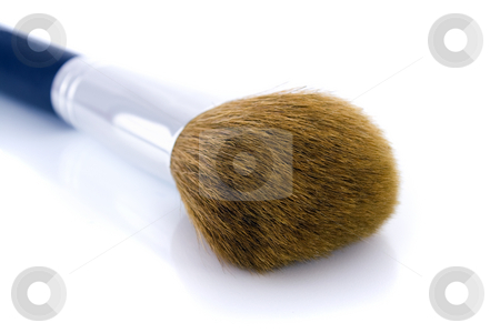 Big make-up brush stock photo, Big make-up brush for face powder or foundation.  Isolated on white background, with shadow. by Natalia Banegas