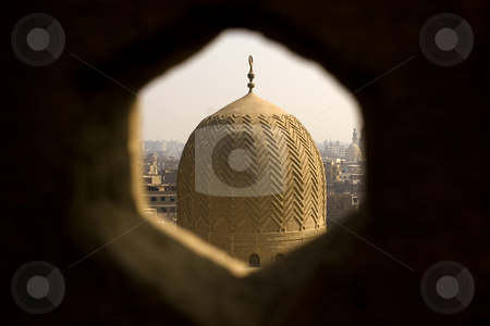 Dome stock photo, Bab Zuweila is a medieval gate in Cairo, which is still standing in modern times. It was also known as Bawabbat Al-Mitwali during the Ottoman period, and is sometimes spelled Bab Zuwayla. It considered the last remaining southern gate from the walls of Fatimid Cairo in the 11th and 12th century. Its name comes from Bab, meaning