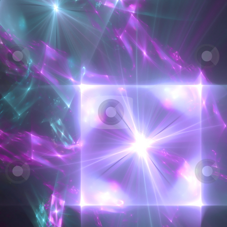 Abstract background. Blue - purple palette. stock photo, Abstract background. Blue - purple palette. Raster fractal graphics. by Andrey Khritin
