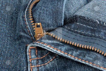 Jeans zipper. stock photo, Jeans zipper. Close-up. by Andrey Khritin