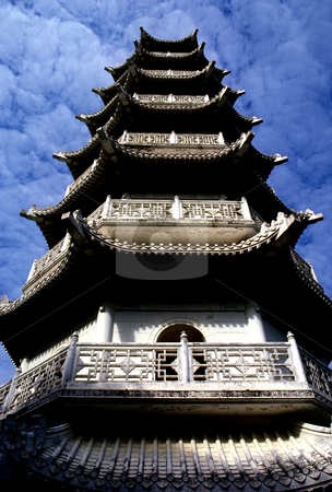 Pagoda stock photo, Hong Kong, Tiger Balm Gardens, Pagoda of the Sung Dynesty Style by David Ryan