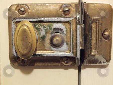 Old Brass Door Lock  stock photo, Old Brass Door Lock by Stephen Lambourne