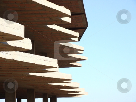 Abstract Building and Blue Sky stock photo, Abstract Building and Blue Sky by Stephen Lambourne