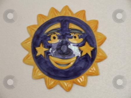 Decorative Sun Face stock photo, Decorative Sun Face by Stephen Lambourne