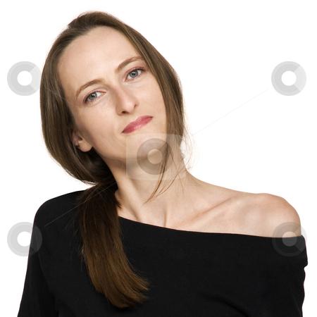 Fashion Beautiful Girl stock photo, Fashion girl, isolated on white, close up by Desislava Draganova