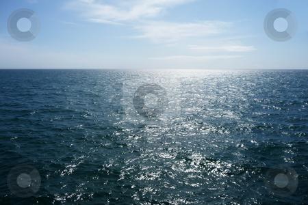 Brighton Sea stock photo, A view of the sea from the Brighton coastline. by Chris Harvey