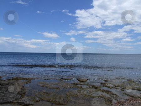 Beach and Sky Landscape stock photo, Beach and Sky Landscape by Stephen Lambourne