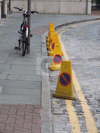 Peddle Bike Street Cones Shot stock photo, Peddle Bike Street Cones Shot by Stephen Lambourne
