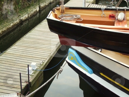 Water and Moored Boats stock photo, Water and Moored Boats by Stephen Lambourne