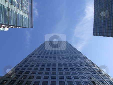 Skyscrapers and Blue Sky stock photo, Skyscrapers and Blue Sky by Stephen Lambourne