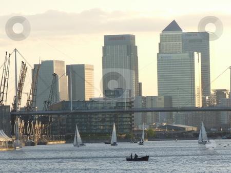 Skyscraper and Boats Landscape stock photo, Skyscraper and Boats Landscape by Stephen Lambourne