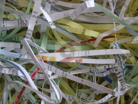 Shredded Paper stock photo, Shredded Paper by Stephen Lambourne