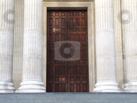 Large Wooden Door stock photo, Large Wooden Door by Stephen Lambourne