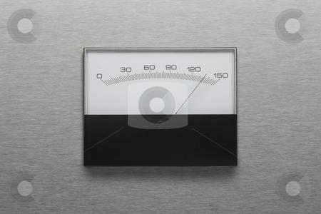 Pressure gauge stock photo, Pressure gauge shot on stainless steel background by James Barber