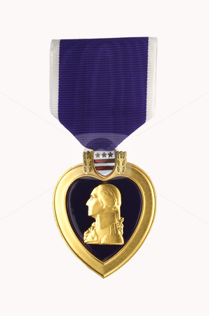 Purple Heart stock photo, Purple Heart shot on light background by James Barber