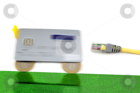 Secure and fast e-commerce stock photo, Secure and fast e-commerce shopping over the internet by Roberto Marinello